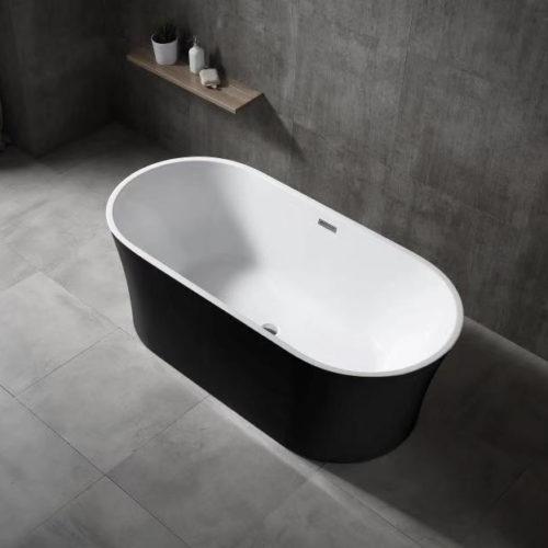 acrylic bath black